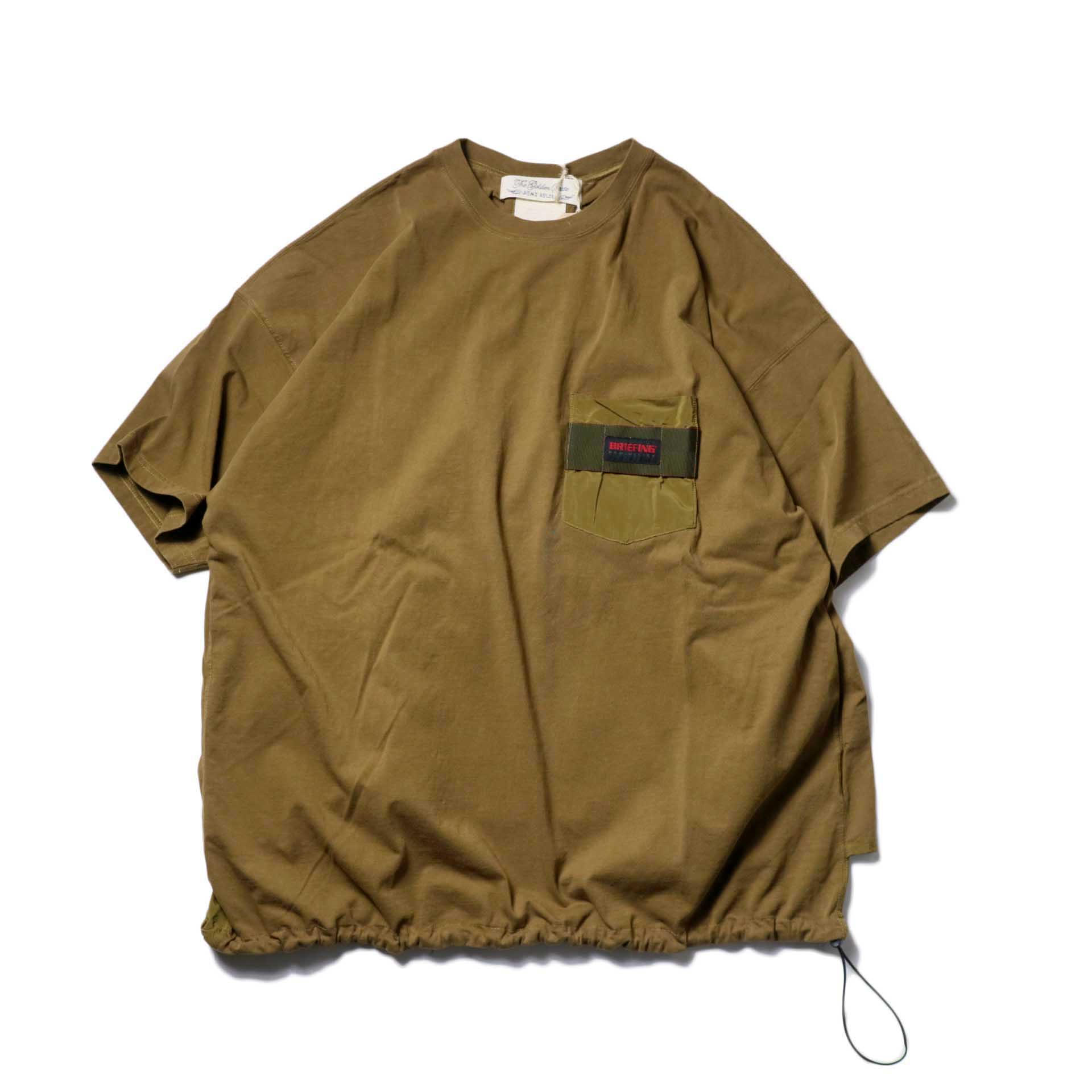 REMI RELIEF × BRIEFING / 天竺ベンチレーションTee (Olive)
