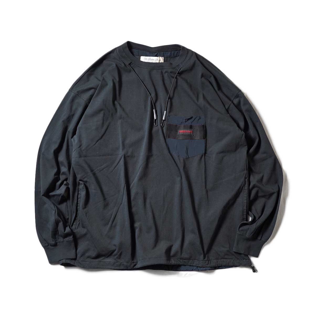 REMI RELIEF / BRFストラップ付30天竺ロンT (Black)