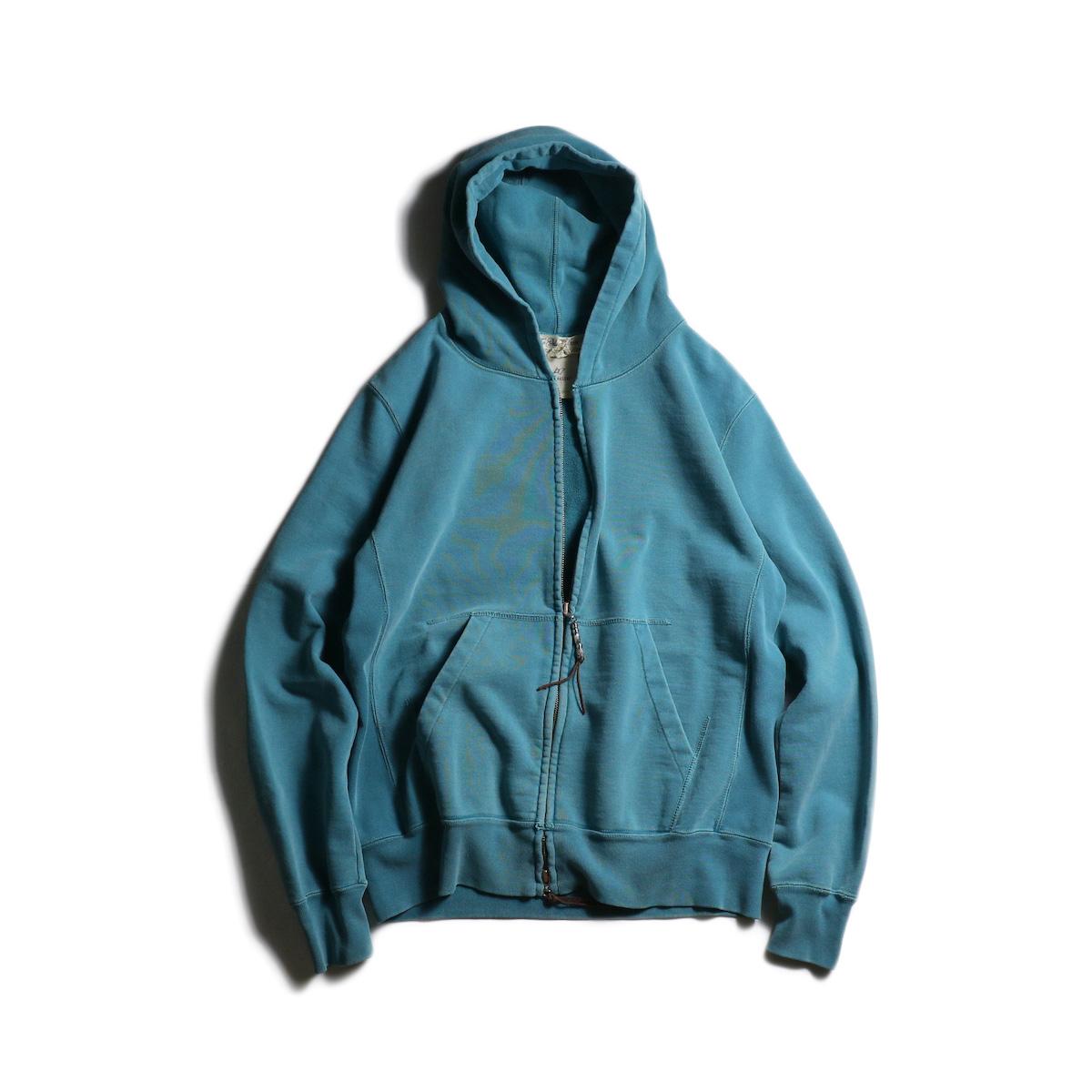 REMI RELIEF / スペシャル加工裏毛 ZIPパーカ (Green)