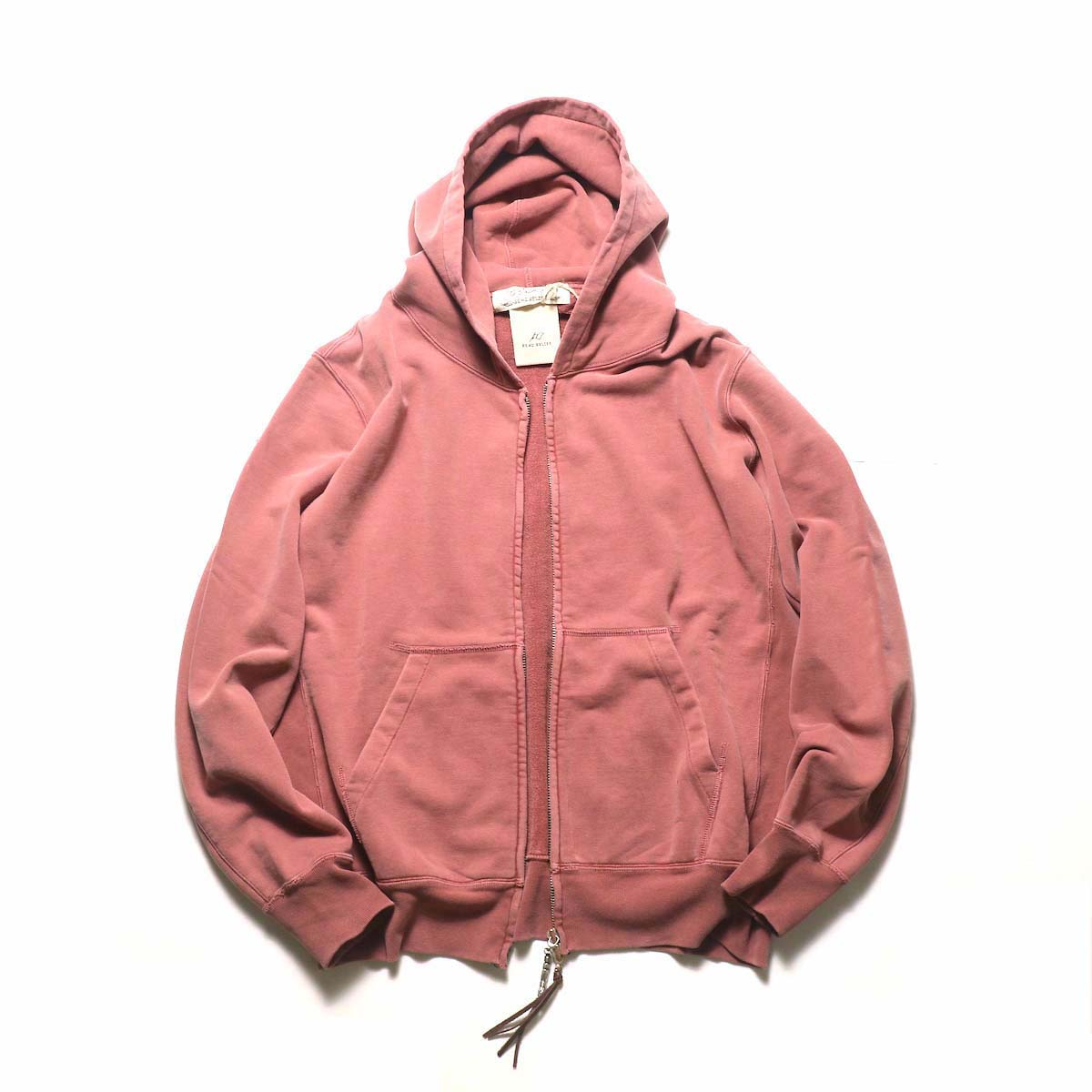 REMI RELIEF / スペシャル加工裏毛 ZIPパーカ (Red)