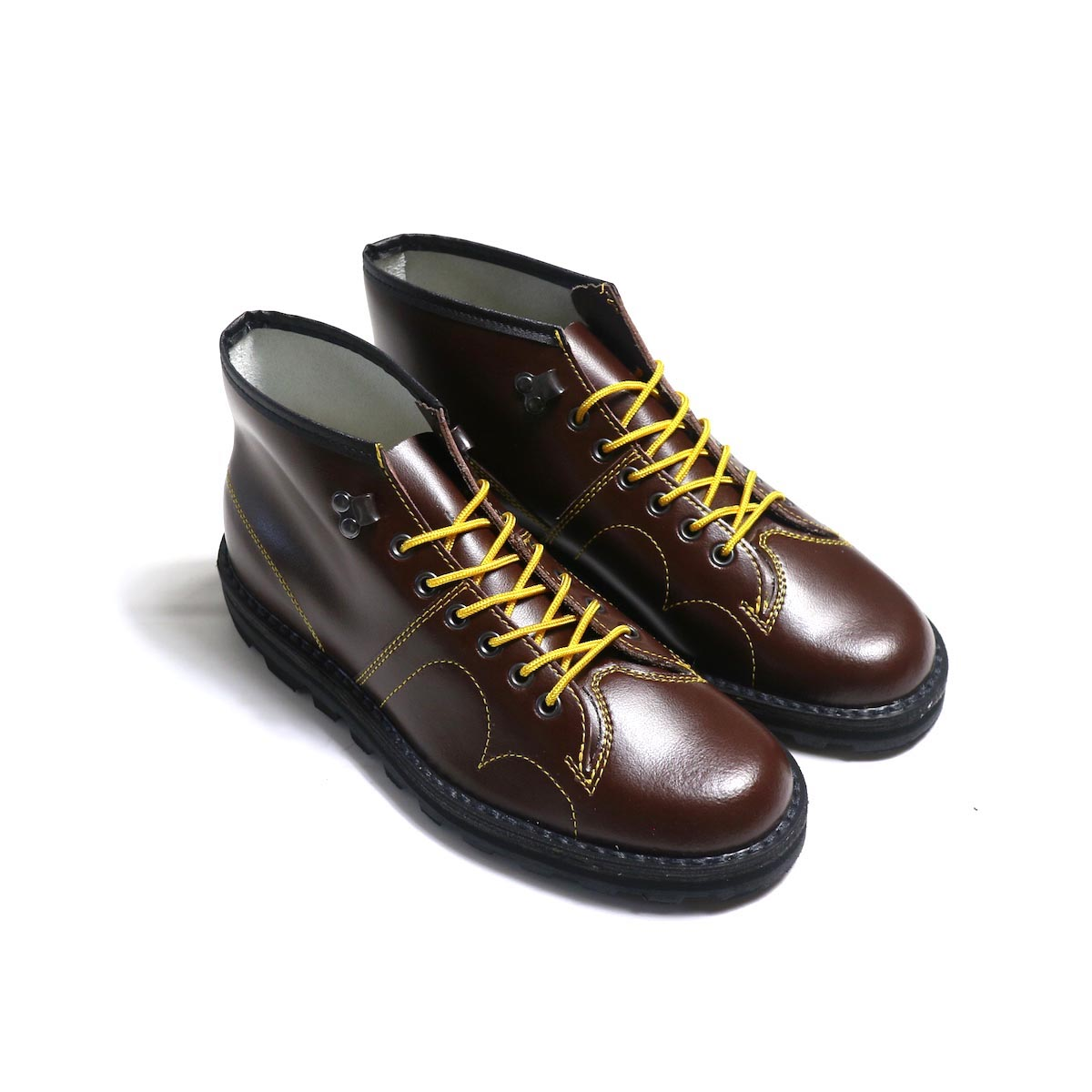 REPRODUCTION OF FOUND / CZECHO SLOVAKIA MILITARY BOOTS -BROWN