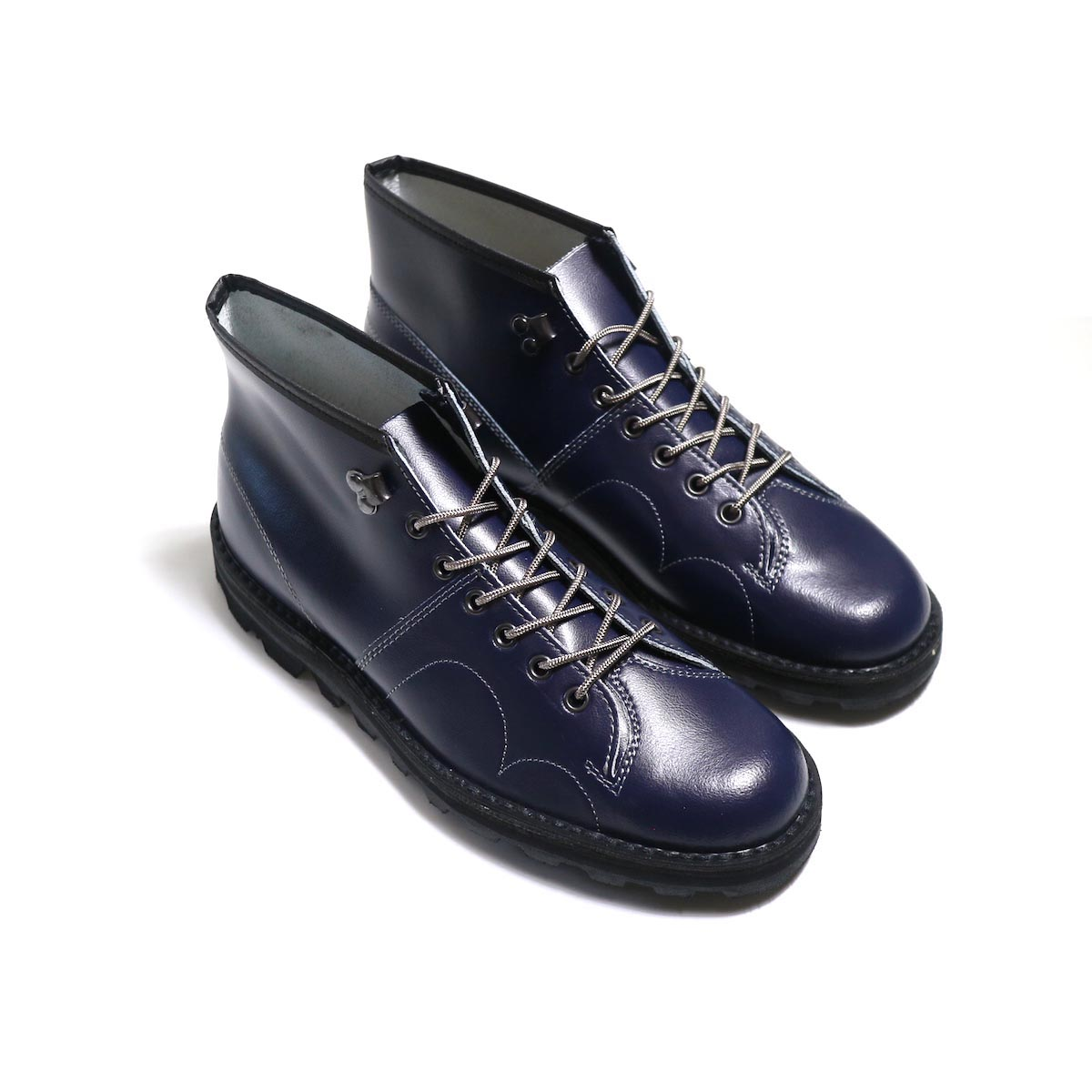 REPRODUCTION OF FOUND / CZECHO SLOVAKIA MILITARY BOOTS -NAVY