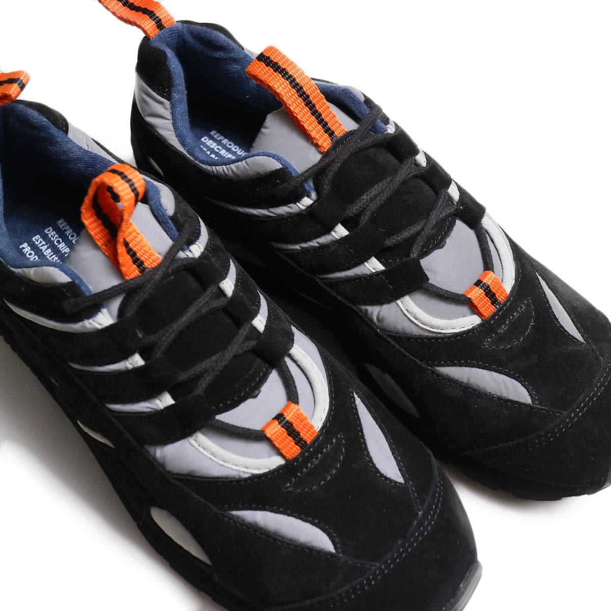 REPRODUCTION OF FOUND / FRENCH MILITARY TRAINER -Reflection/Black アッパー