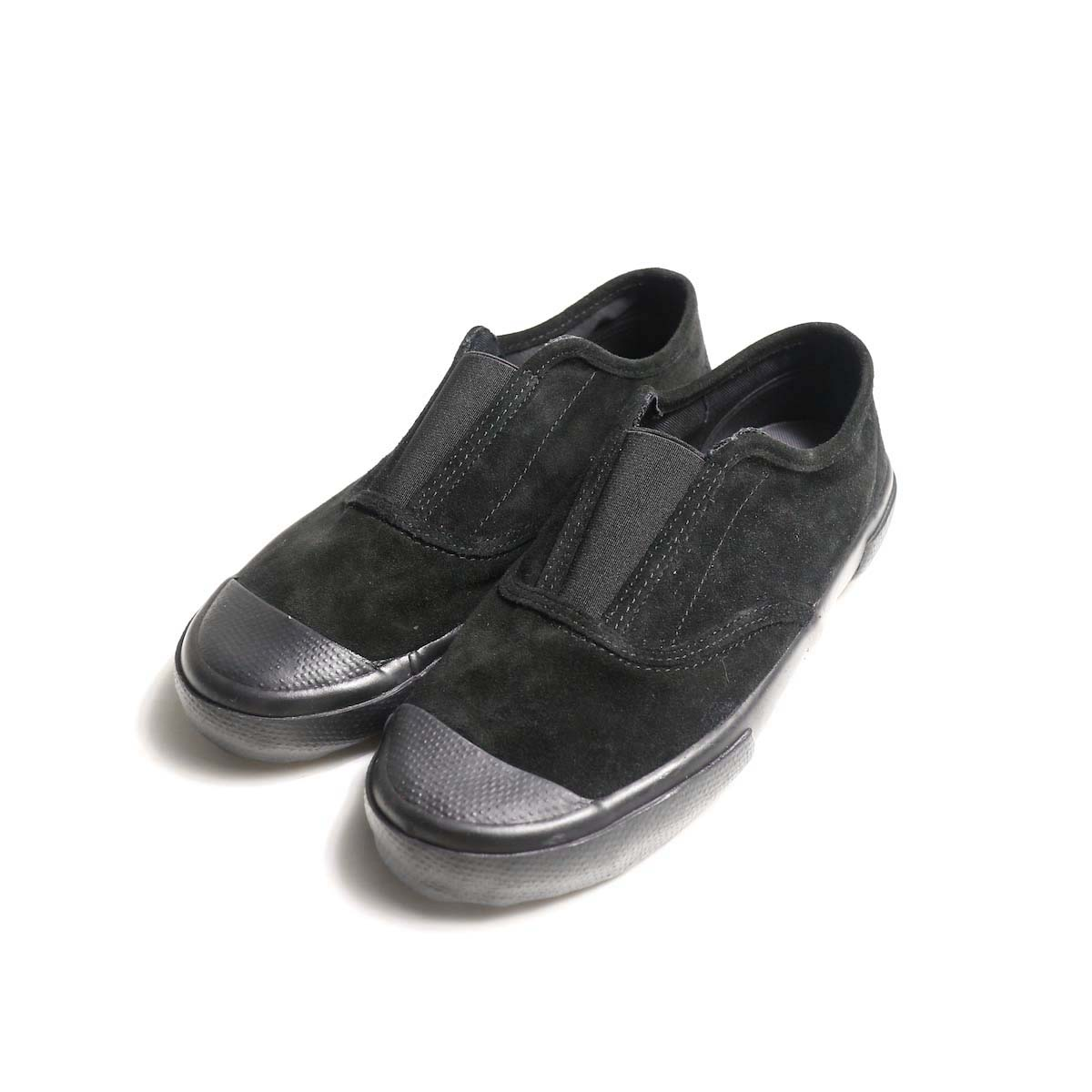 REPRODUCTION OF FOUND / ITALIAN MILITARY TRAINER (Black Suede)