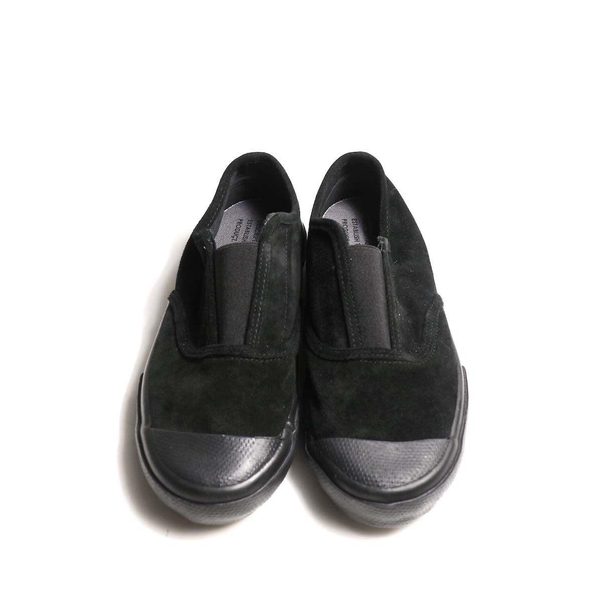 REPRODUCTION OF FOUND / ITALIAN MILITARY TRAINER (Black Suede)正面