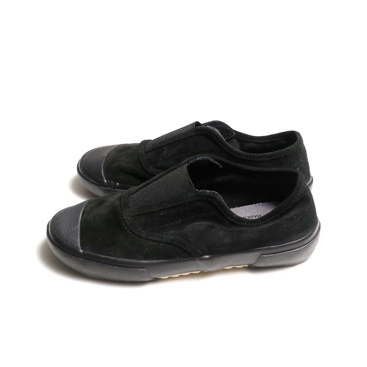 REPRODUCTION OF FOUND / ITALIAN MILITARY TRAINER (Black Suede)側面