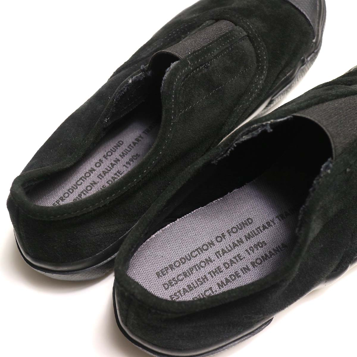 REPRODUCTION OF FOUND / ITALIAN MILITARY TRAINER (Black Suede)インソール