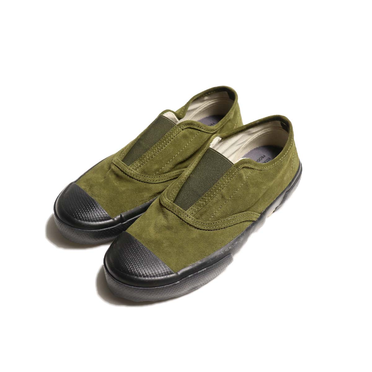 REPRODUCTION OF FOUND / ITALIAN MILITARY TRAINER (Olive Suede / Black Sole)