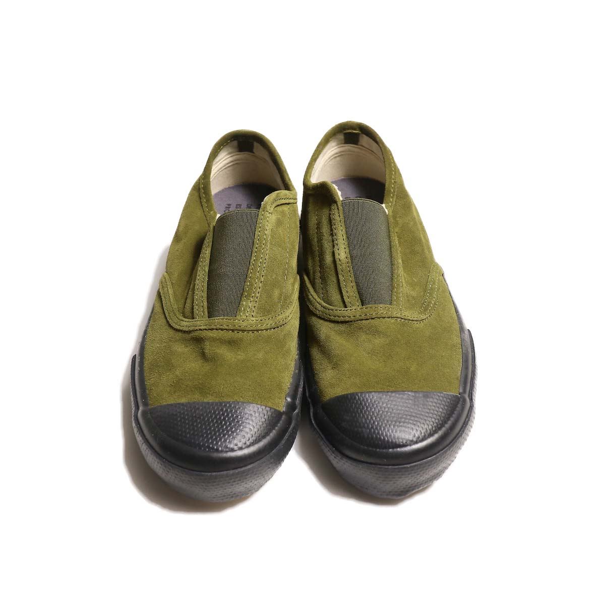 REPRODUCTION OF FOUND / ITALIAN MILITARY TRAINER (Olive Suede / Black Sole)正面