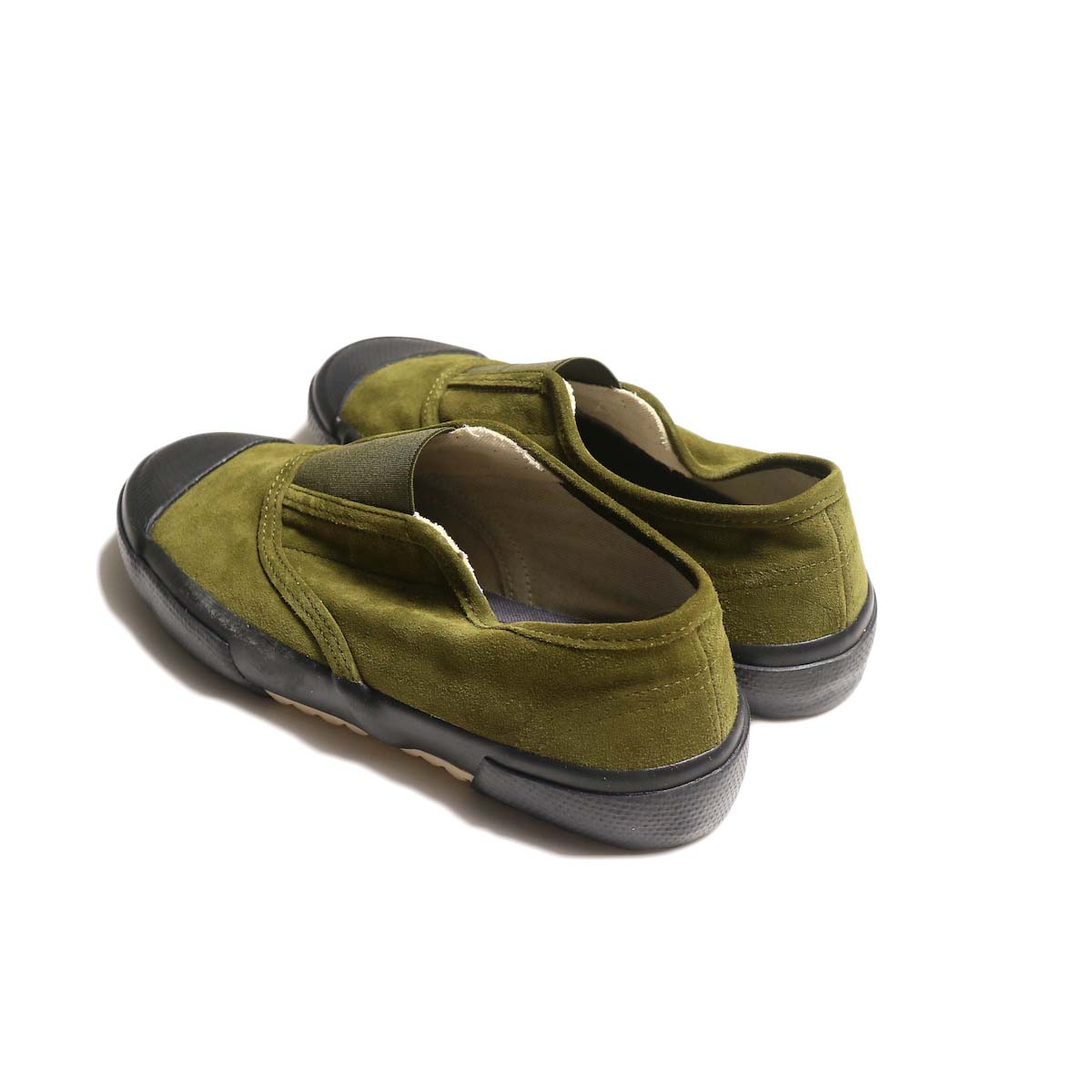 REPRODUCTION OF FOUND / ITALIAN MILITARY TRAINER (Olive Suede / Black Sole)背面