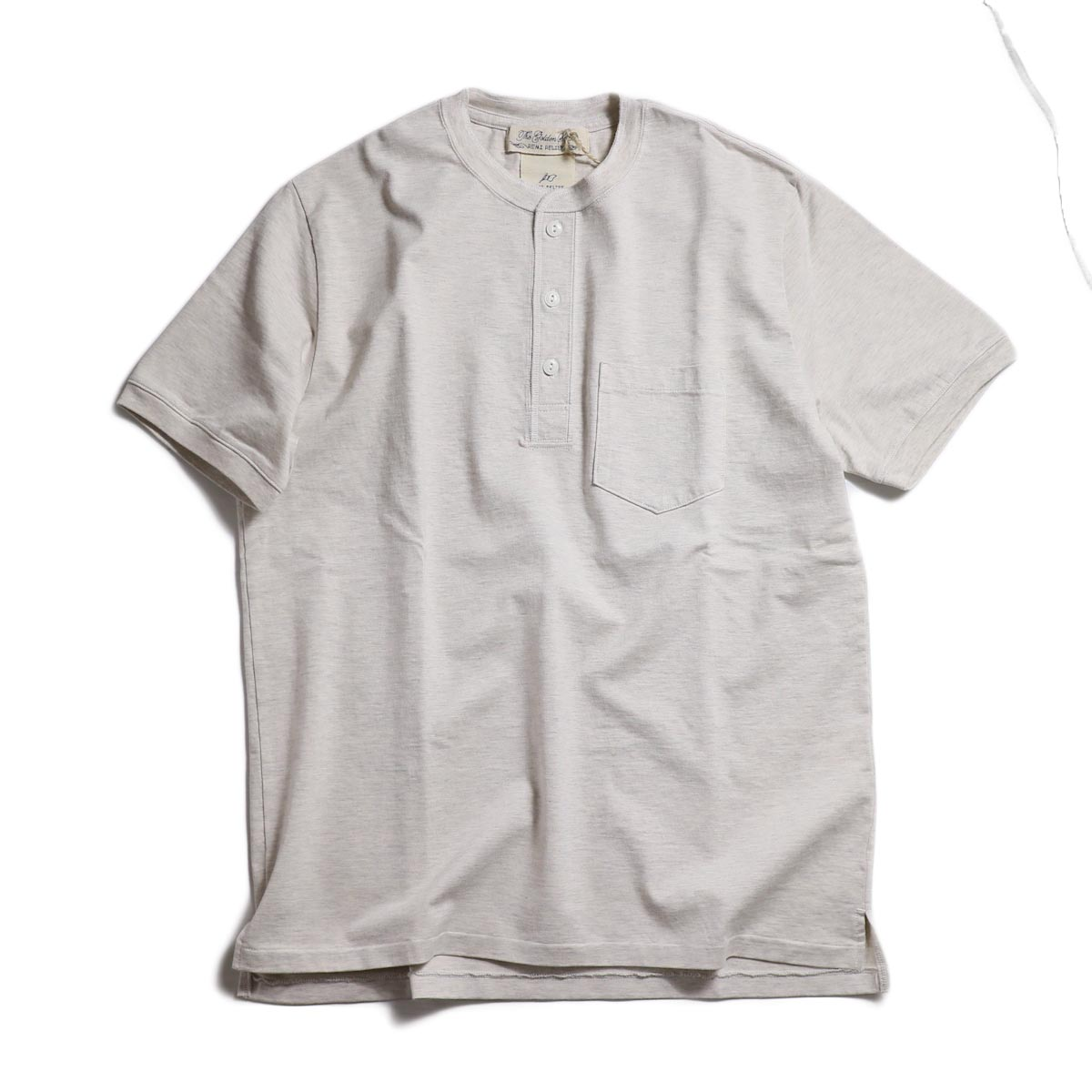 REMI RELIEF /  HENLEY NECK TEE -Oatmeal