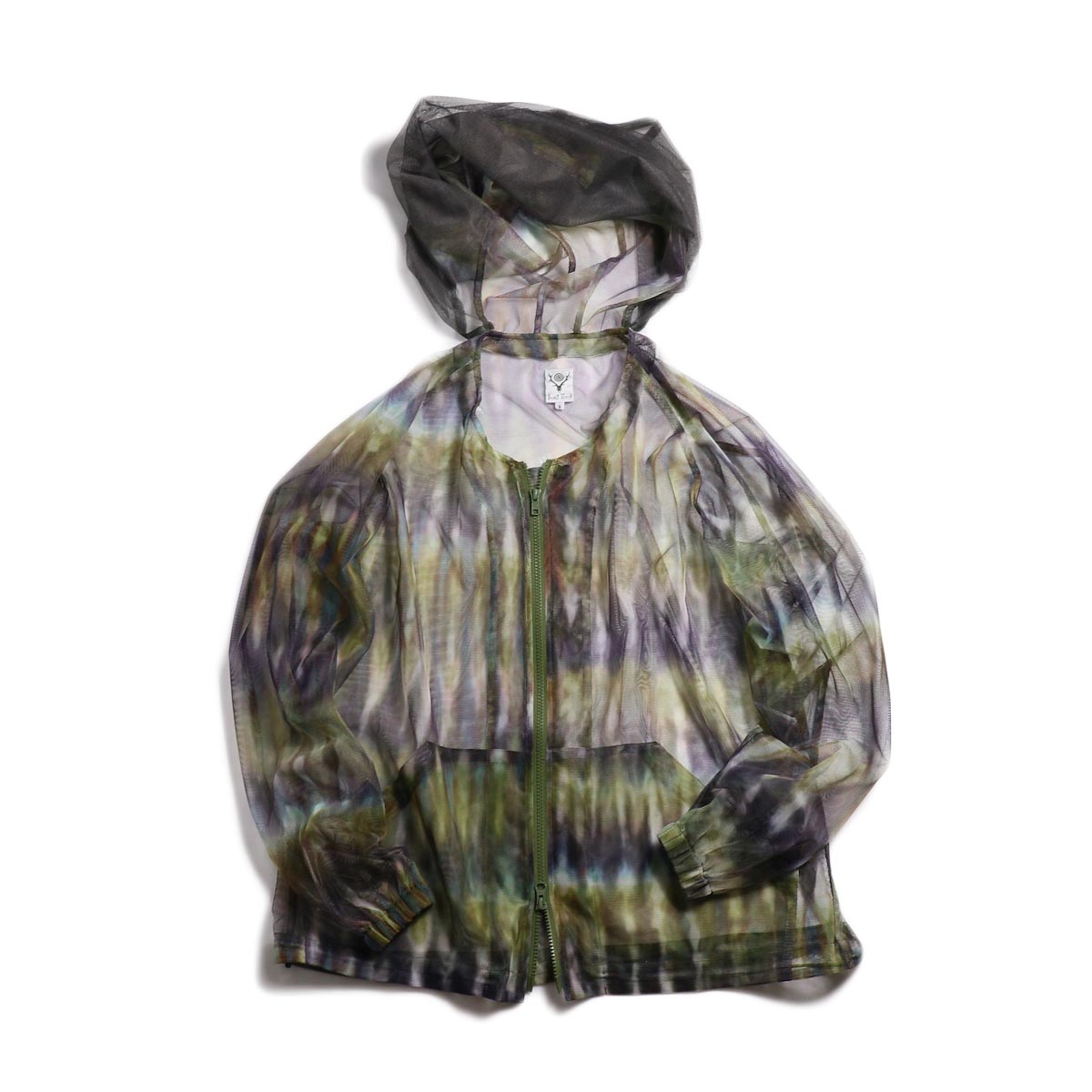 SOUTH2 WEST8 / Bush Parka -Mesh Print (Tie Dye)