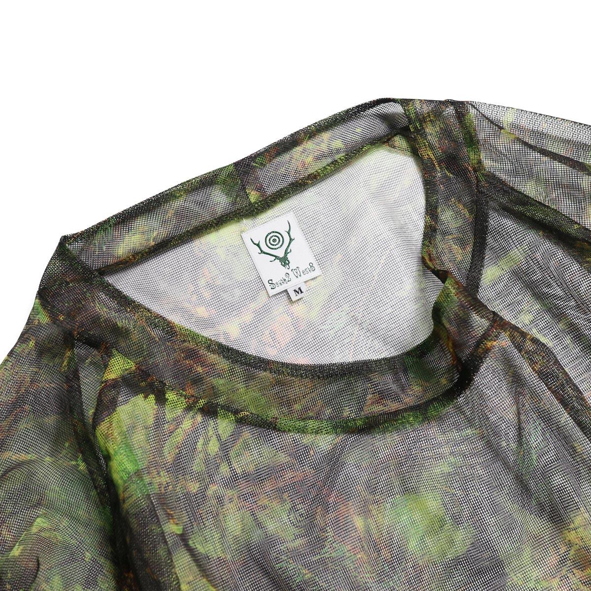 SOUTH2 WEST8 / Bush Shirt -Mesh Print (S2W8 Camo) 首元
