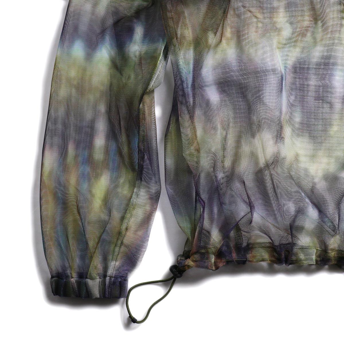 SOUTH2 WEST8 / Bush Shirt -Mesh Print (Tie Dye) 裾