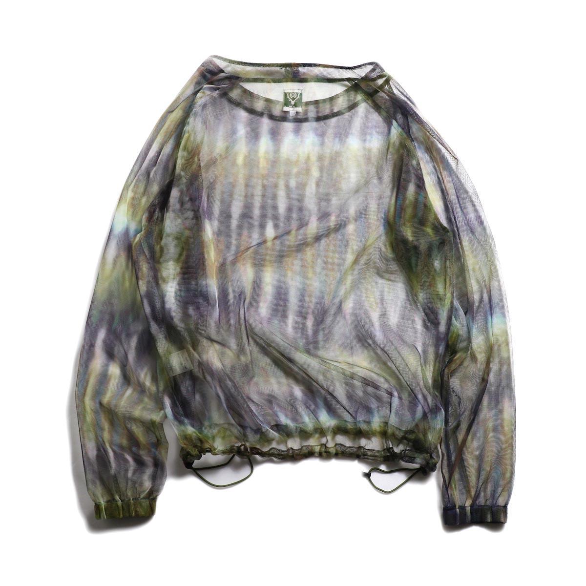 SOUTH2 WEST8 / Bush Shirt -Mesh Print (Tie Dye) 背面