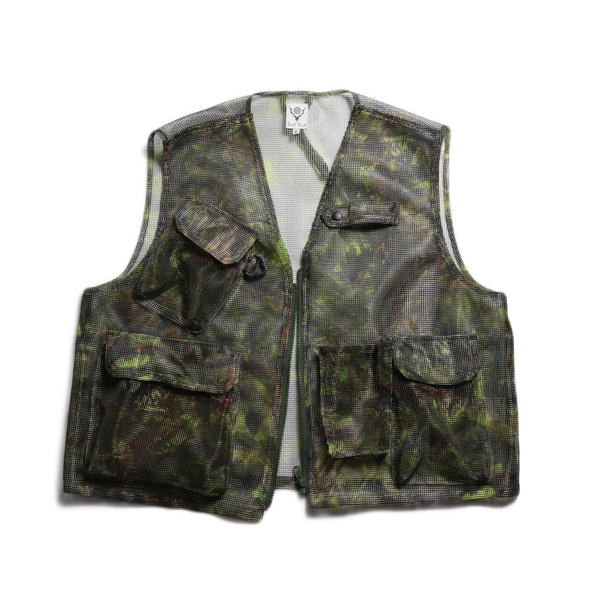 SOUTH2 WEST8 / Mesh Bush Vest -Poly Mesh (S2W8 Camo)