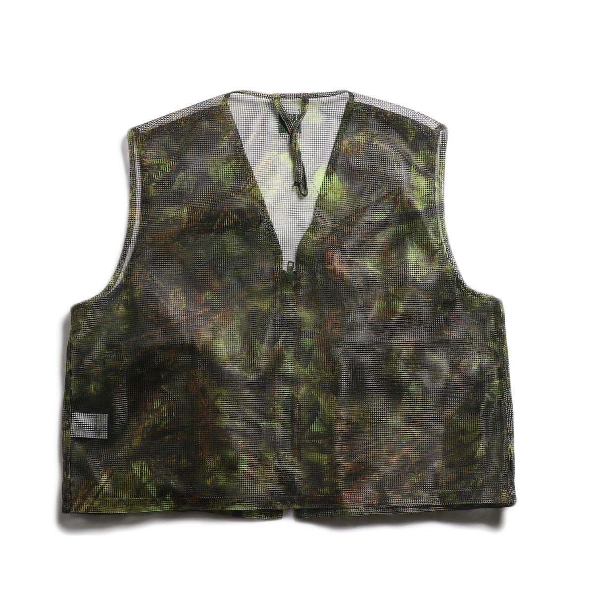 SOUTH2 WEST8 / Mesh Bush Vest -Poly Mesh (S2W8 Camo) 背面