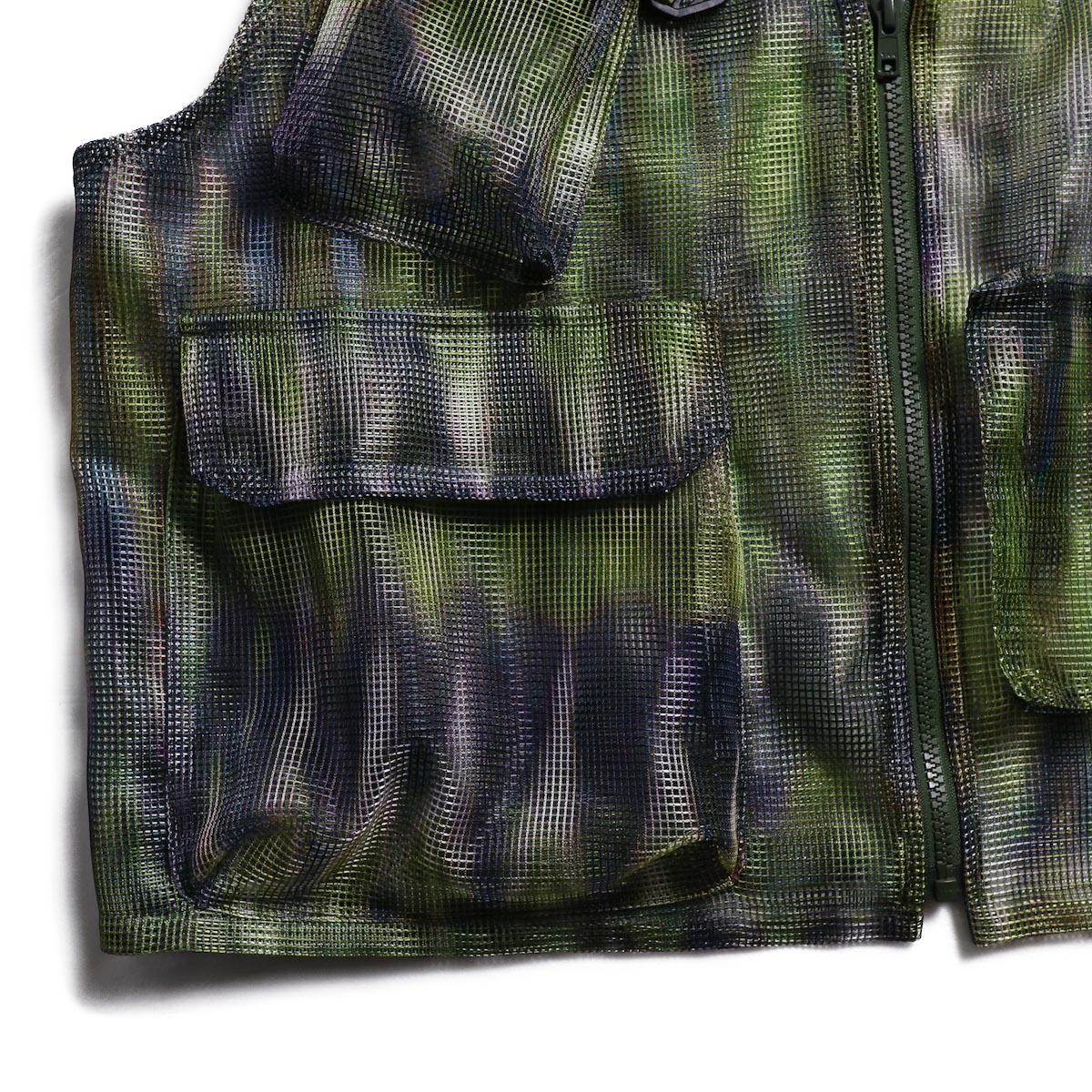 SOUTH2 WEST8 / Mesh Bush Vest -Poly Mesh (Tie Dye) 右