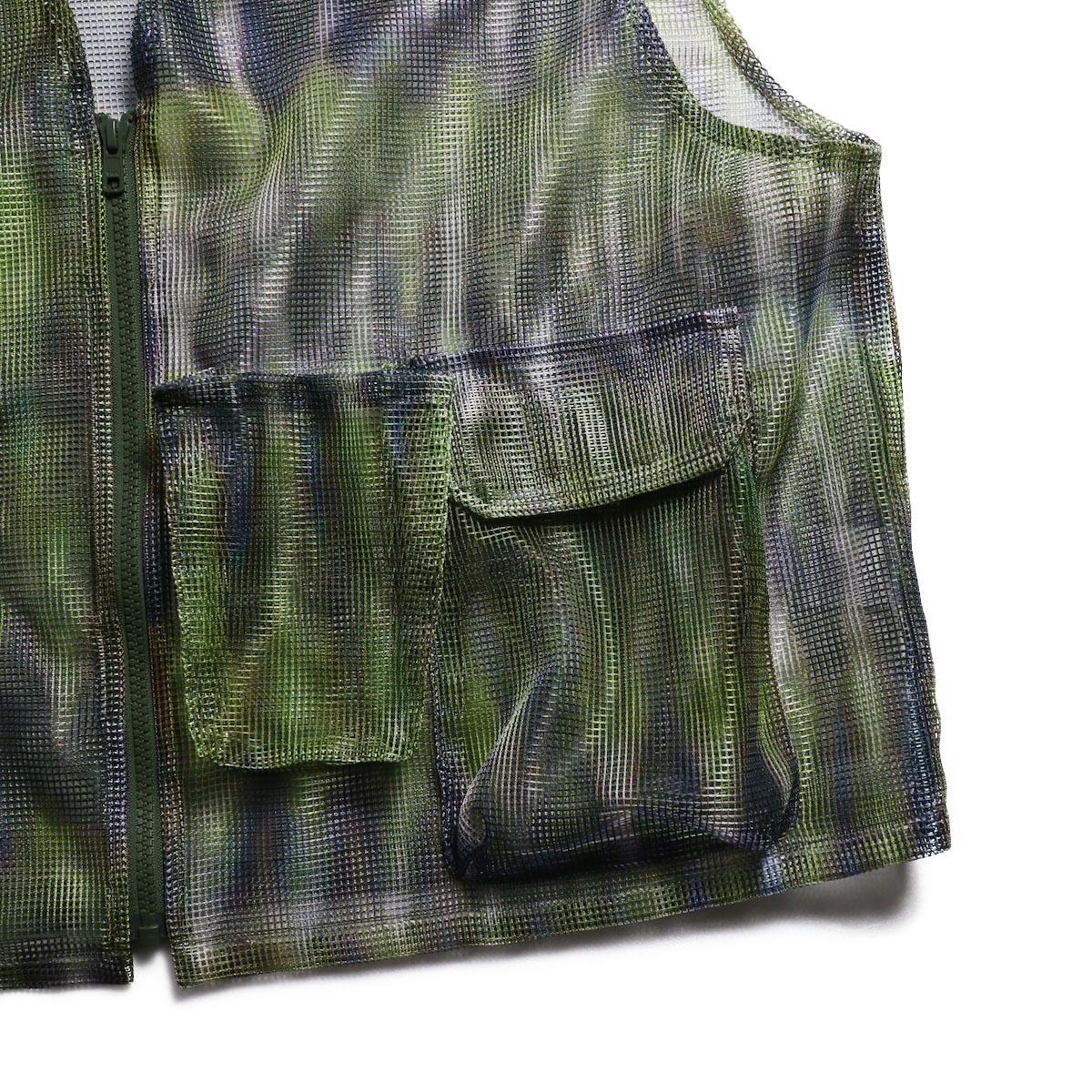 SOUTH2 WEST8 / Mesh Bush Vest -Poly Mesh (Tie Dye) 左