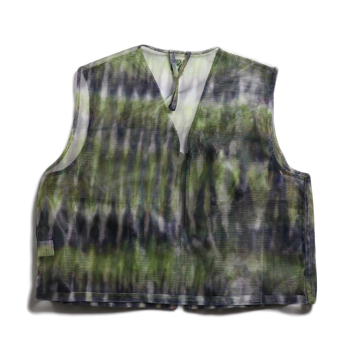 SOUTH2 WEST8 / Mesh Bush Vest -Poly Mesh (Tie Dye) 背面