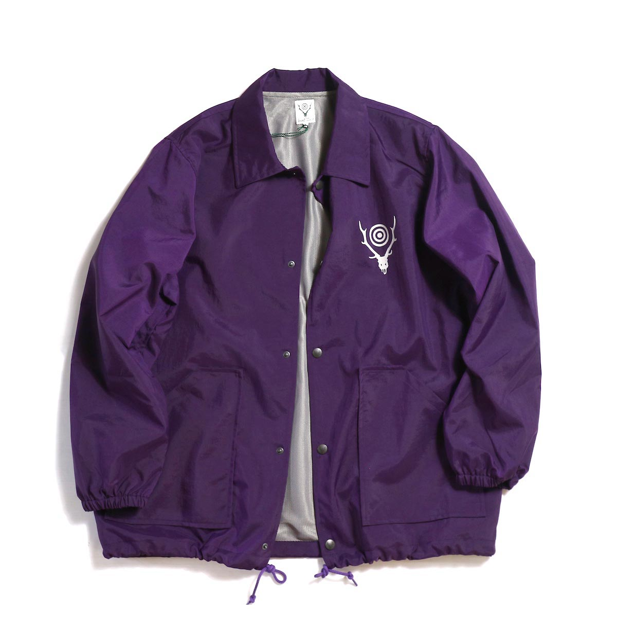 SOUTH2 WEST8 / Coach Jacket -Nylon Taffeta/Acrylic Coating -Purple