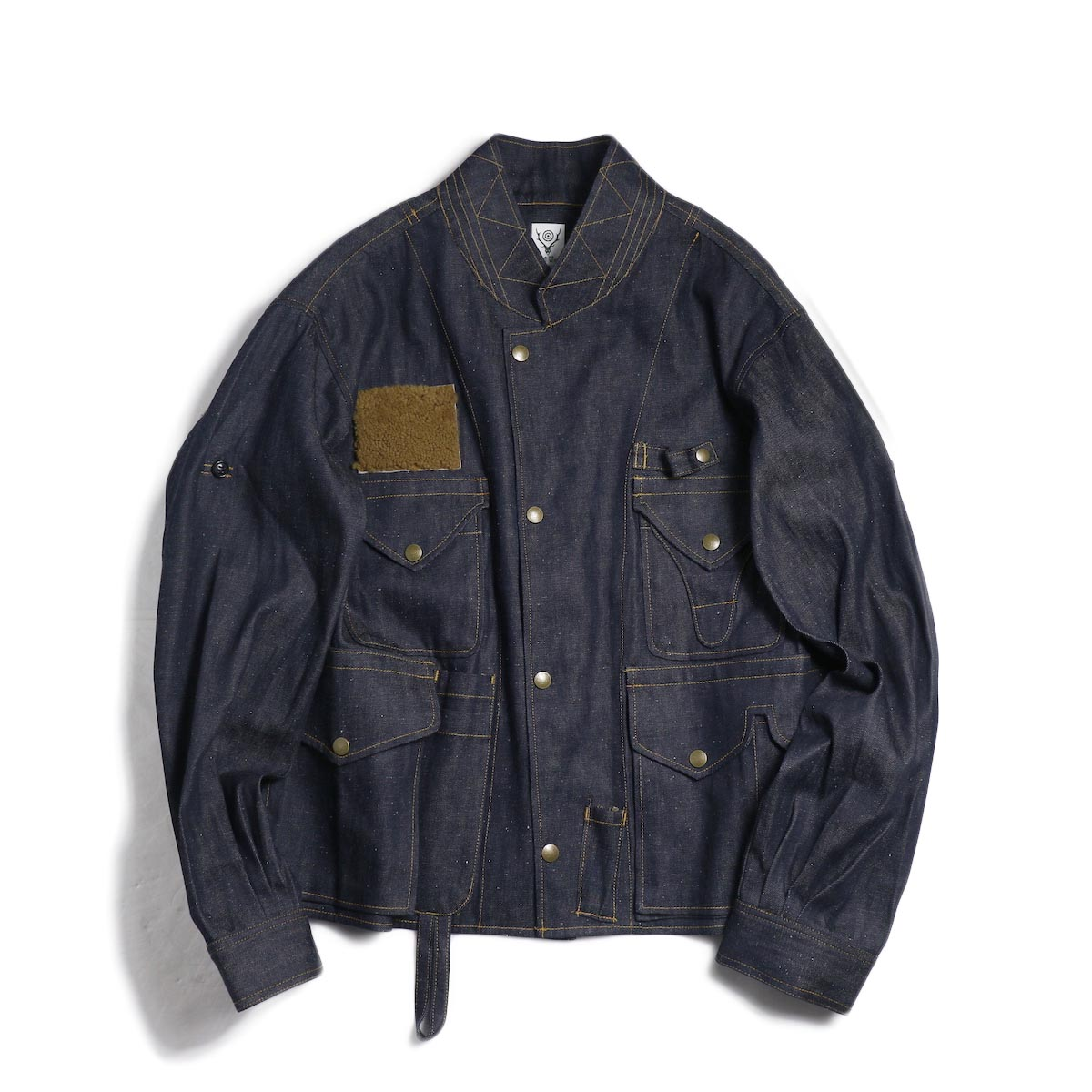 SOUTH2 WEST8 / E.H. Fishing Jacket -C/L 8.5oz Denim