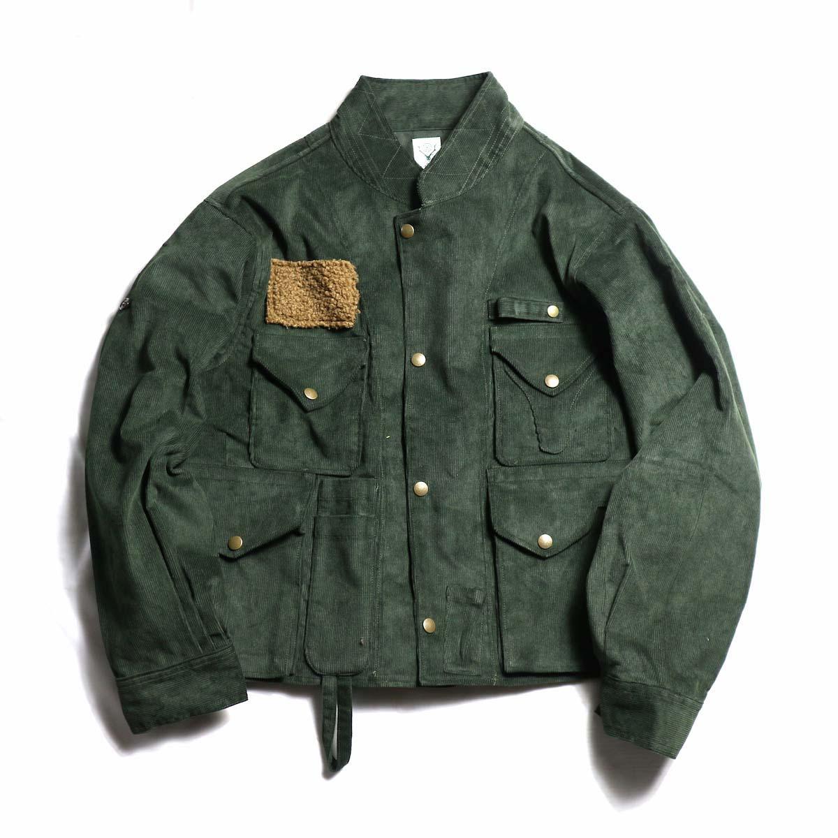 SOUTH2 WEST8 / E.H. Fishing Jacket 14W Corduroy(Green)