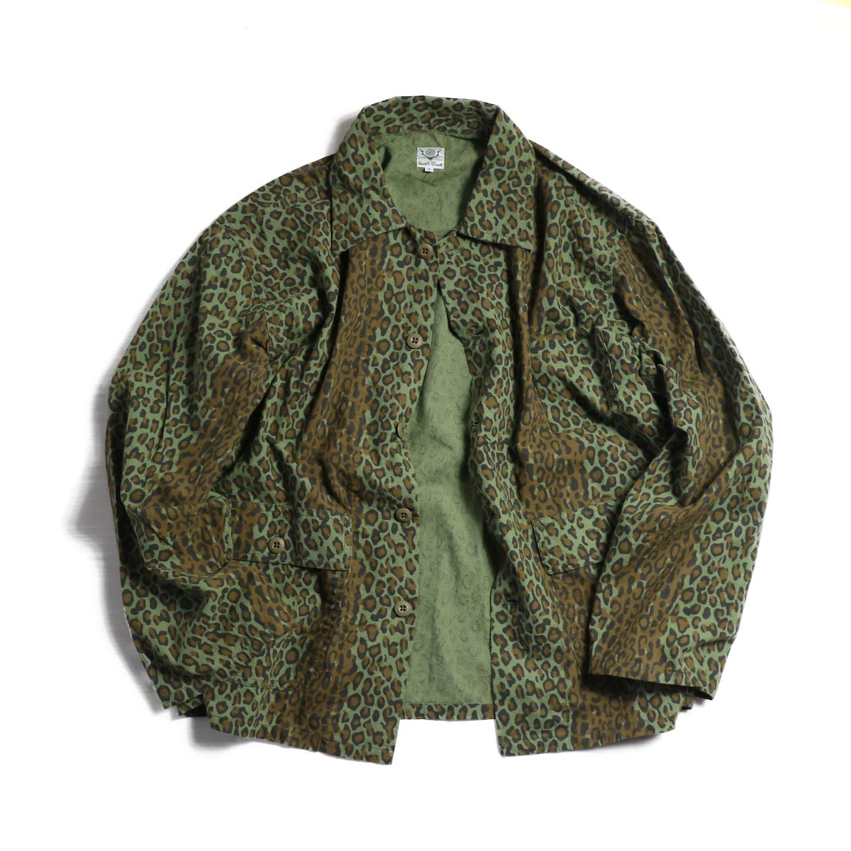 SOUTH2 WEST8 / Hunting Shirt Printed Flannel/Camouflage -Leopard