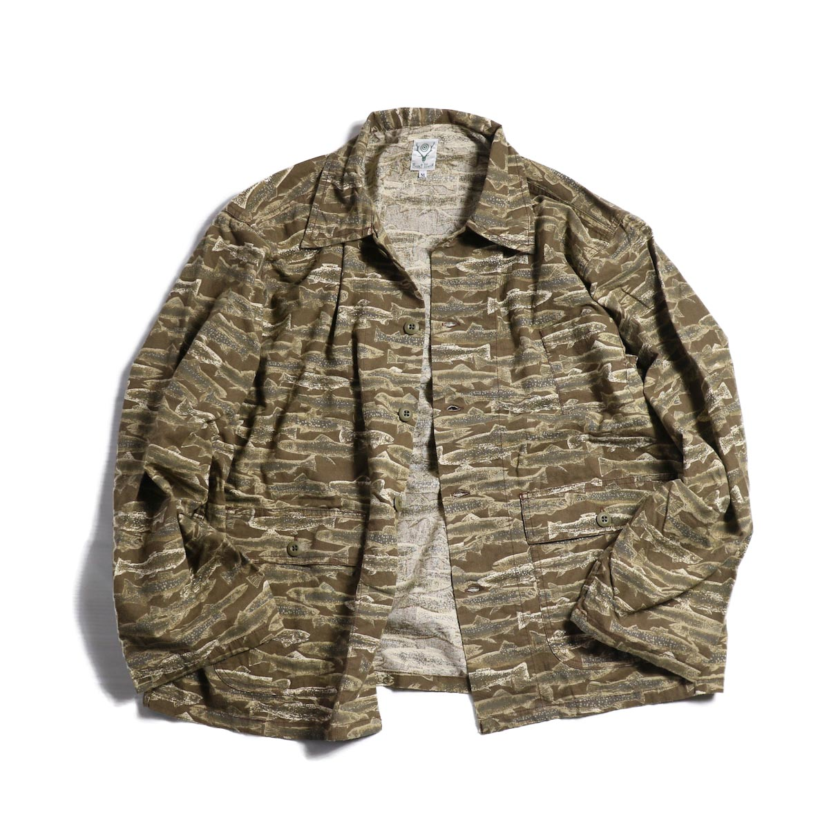 SOUTH2 WEST8 / Hunting Shirt Printed Flannel/Camouflage -Trout