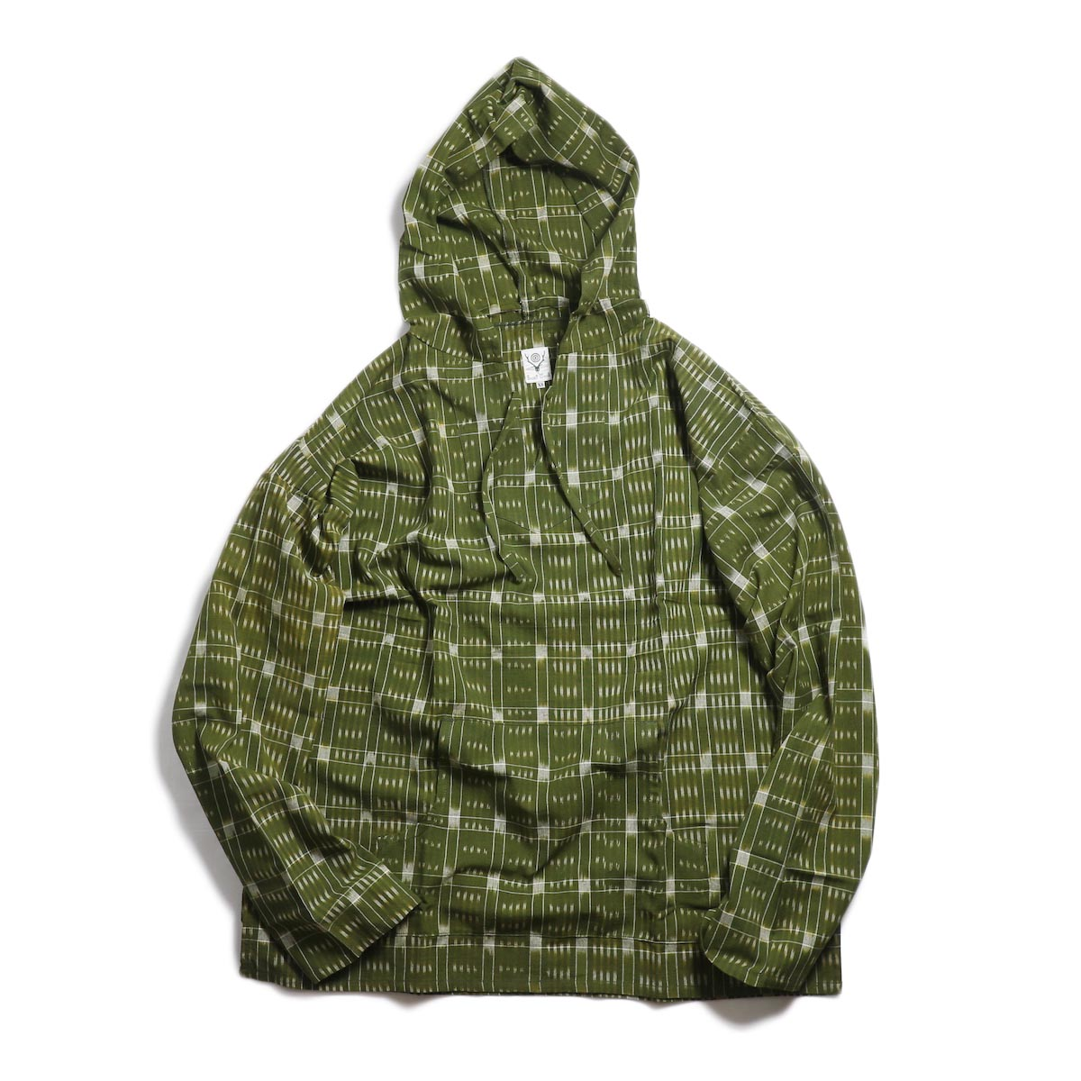 SOUTH2 WEST8 / Mexican Parka -Cotton Cloth / Splashed Pattern (Olive) 正面
