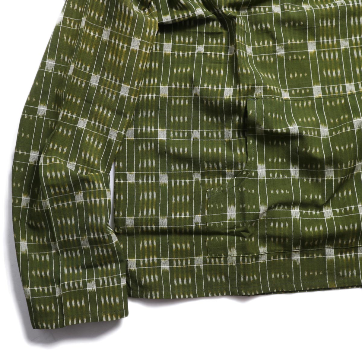 SOUTH2 WEST8 / Mexican Parka -Cotton Cloth / Splashed Pattern (Olive) 裾