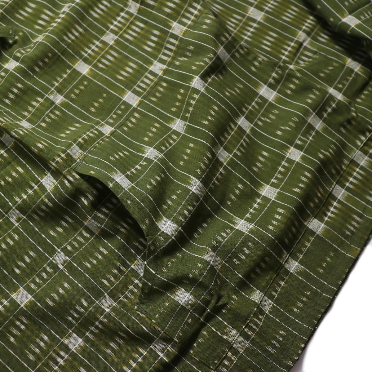 SOUTH2 WEST8 / Mexican Parka -Cotton Cloth / Splashed Pattern (Olive) カンガルーポケット
