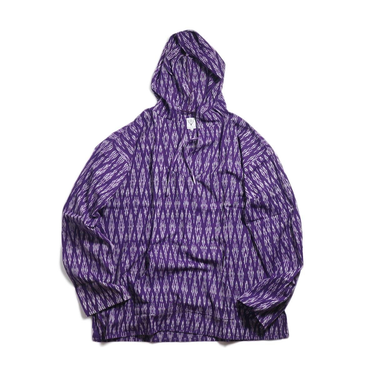 SOUTH2 WEST8 / Mexican Parka -Cotton Cloth / Splashed Pattern (Purple)