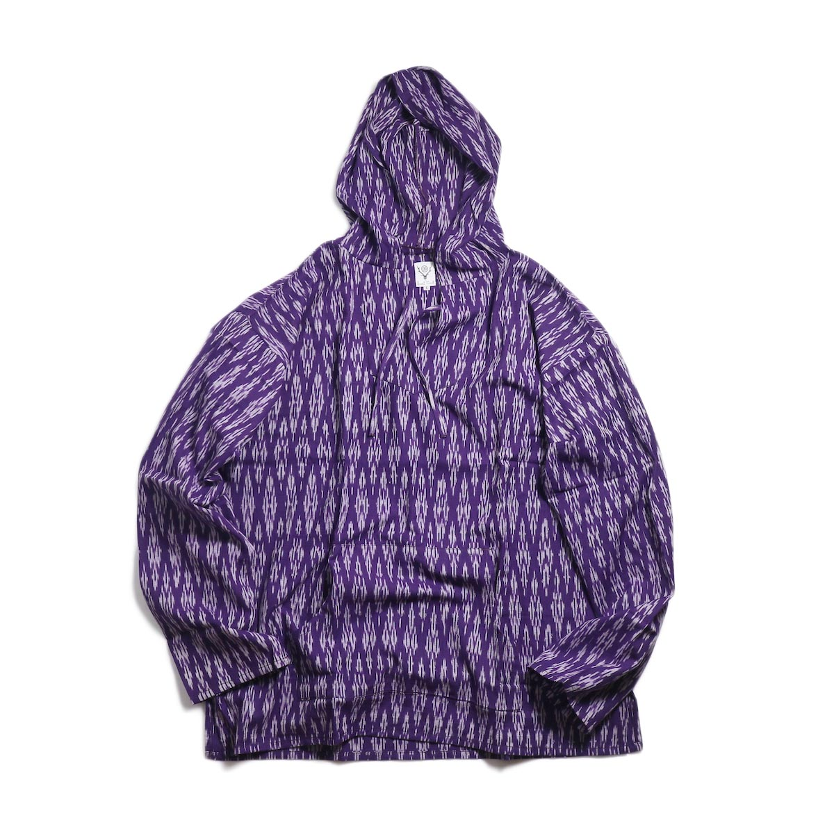 SOUTH2 WEST8 / Mexican Parka -Cotton Cloth / Splashed Pattern (Purple) 正面