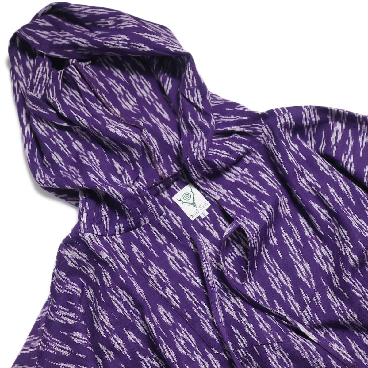 SOUTH2 WEST8 / Mexican Parka -Cotton Cloth / Splashed Pattern (Purple) 首周り