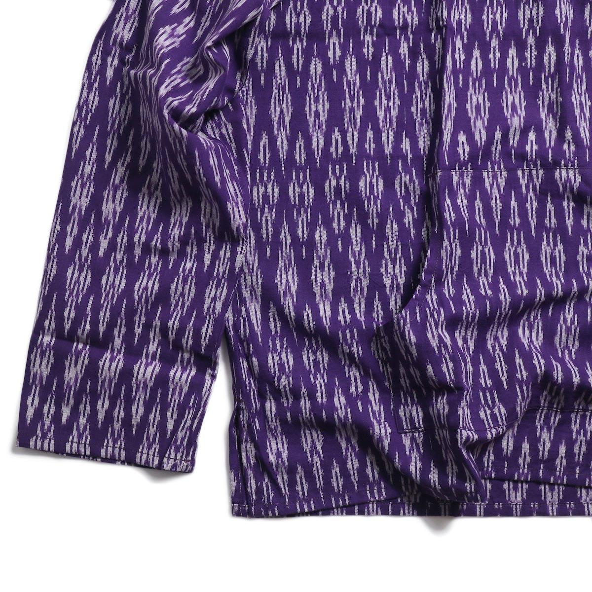 SOUTH2 WEST8 / Mexican Parka -Cotton Cloth / Splashed Pattern (Purple) 裾