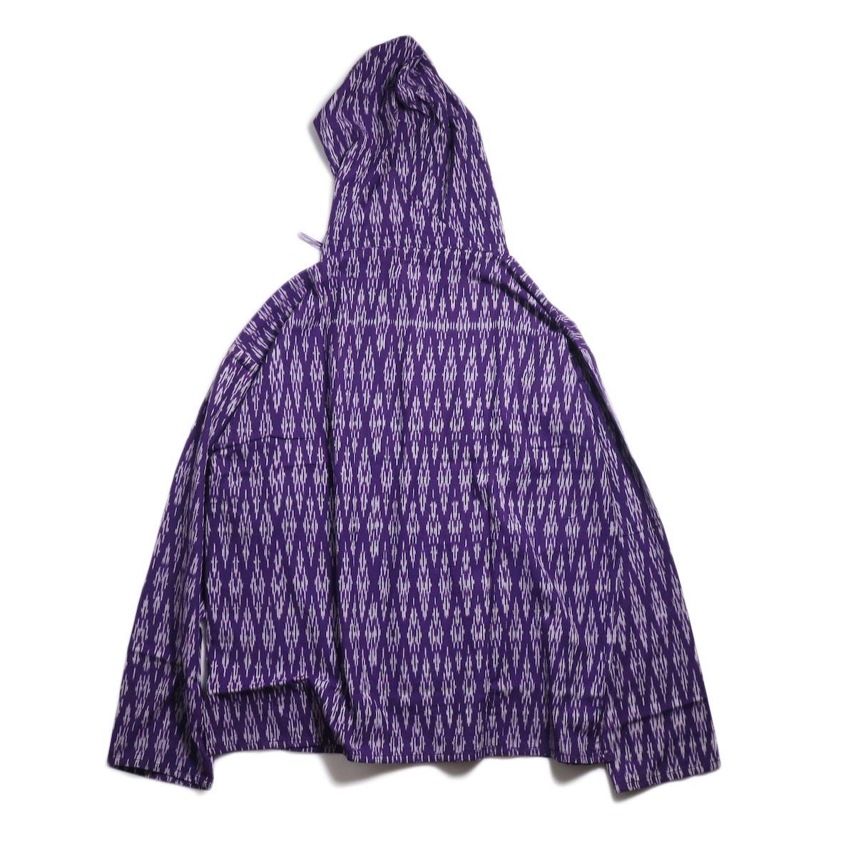 SOUTH2 WEST8 / Mexican Parka -Cotton Cloth / Splashed Pattern (Purple) 背面
