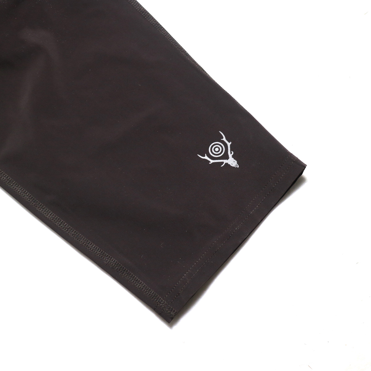 SOUTH2 WEST8 / 1P Cycle Pant-N/Pu Taffeta (Brown)  裾