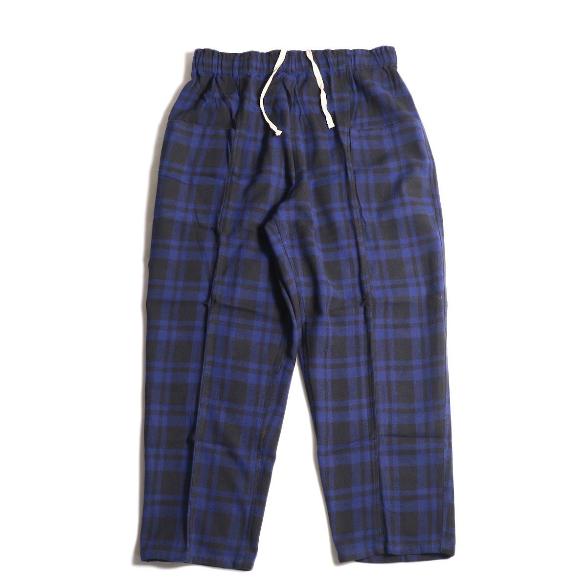 SOUTH2 WEST8 / Army String Pant -Plaid Twill (Blue/Black)