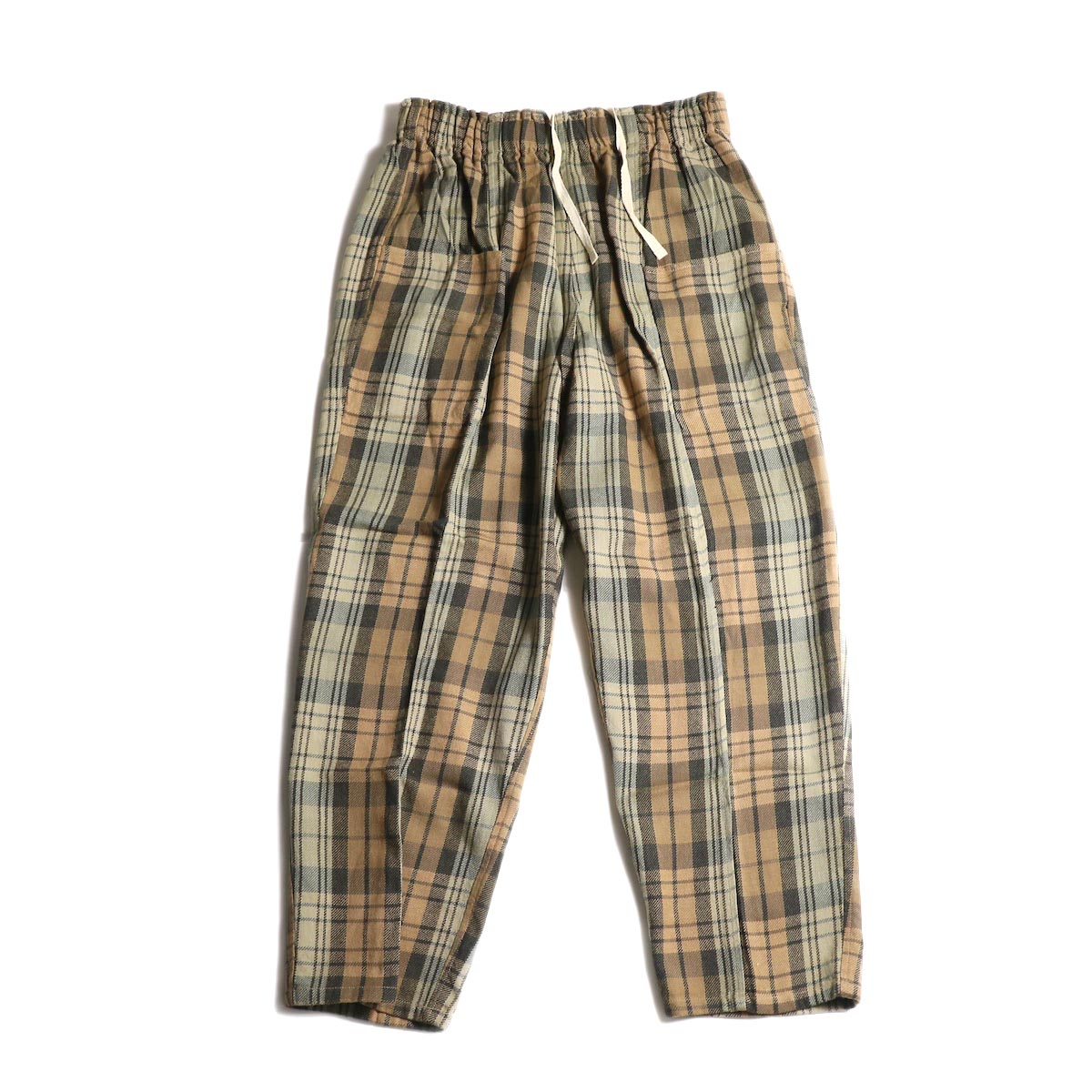 SOUTH2 WEST8 / Army String Pant -Plaid Twill (Khaki/Black)