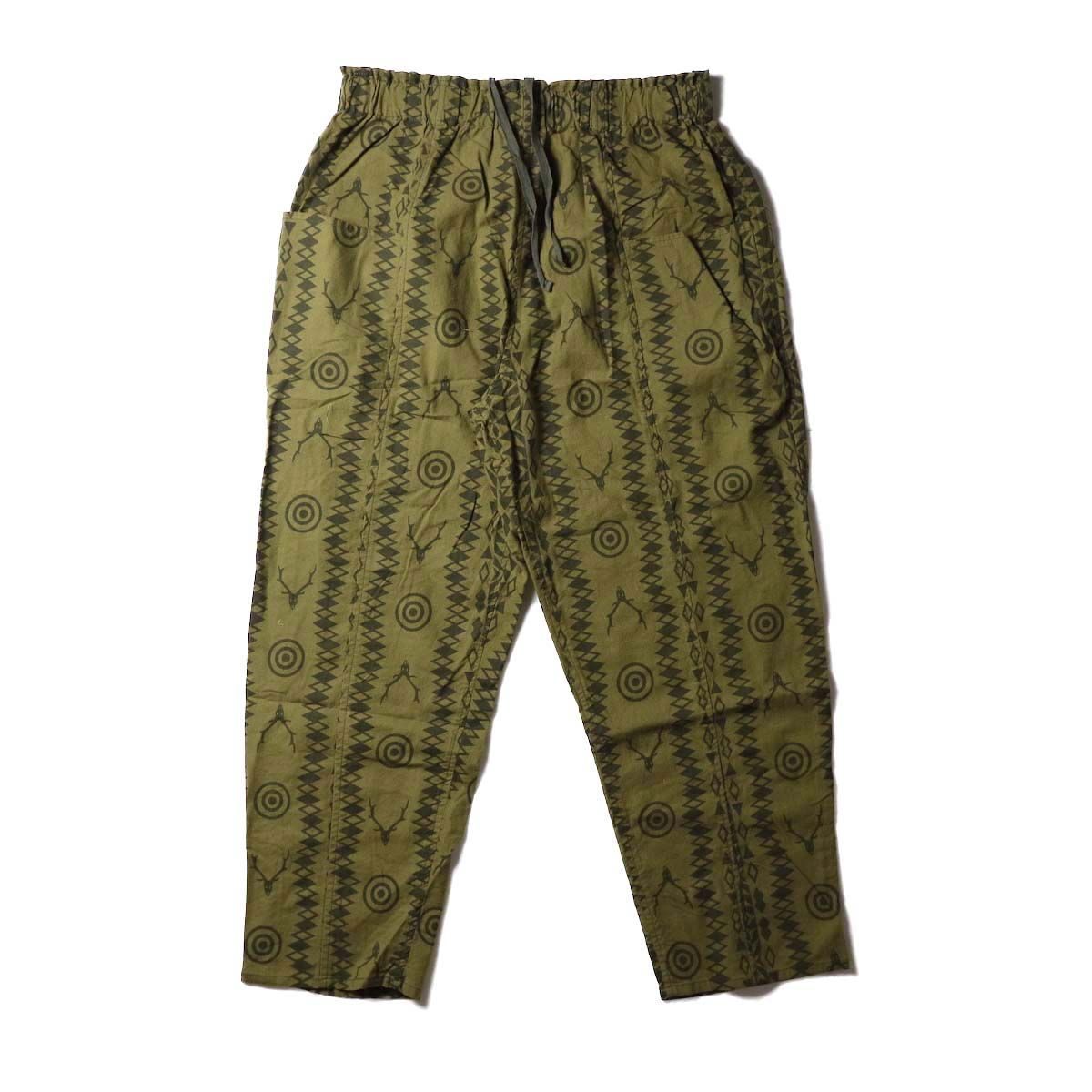 SOUTH2 WEST8 / Army String Pant -Flannel Pt. (Skull&Target)