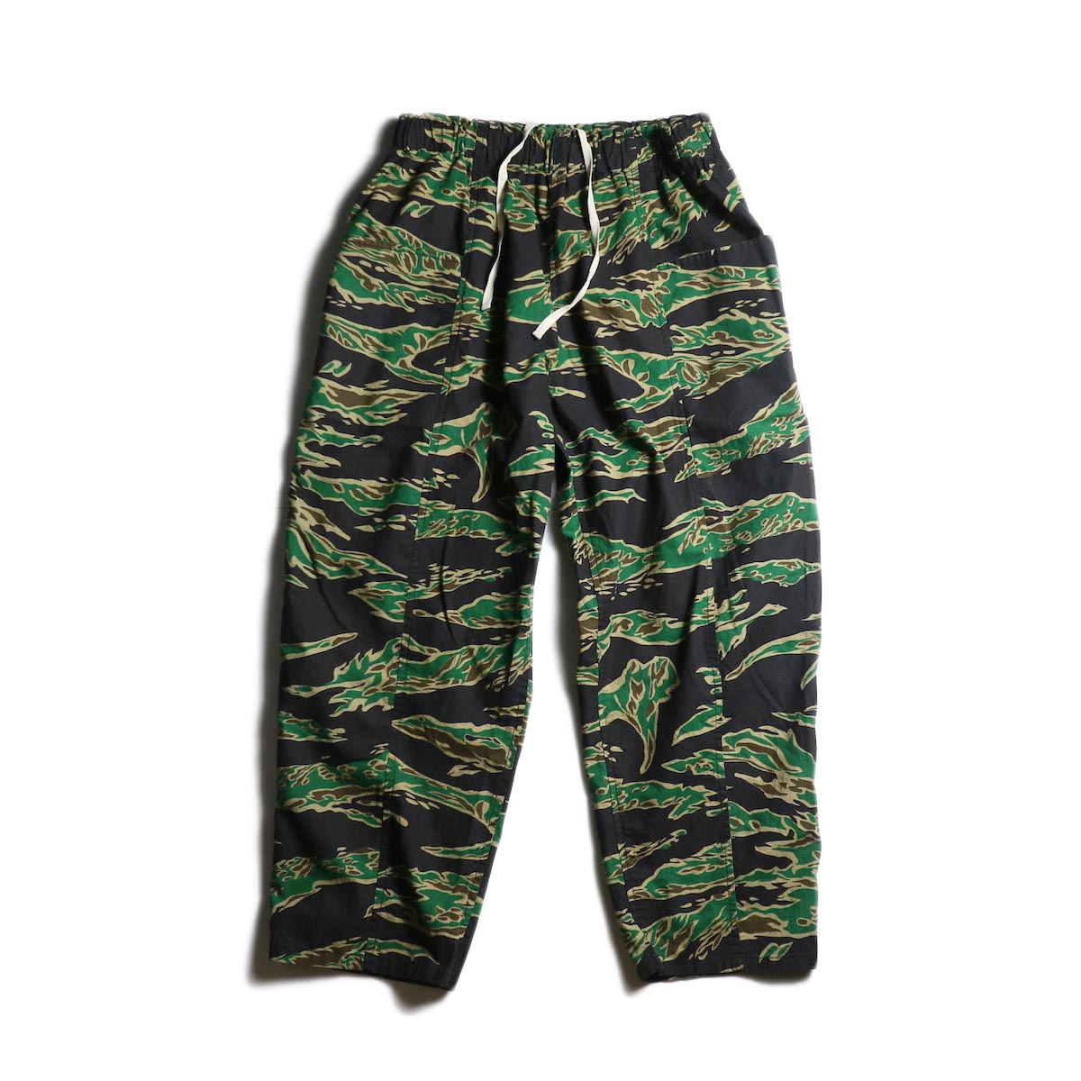 SOUTH2 WEST8 / Army String Pant -Printed Flannel / Camouflage (Tiger Camo)