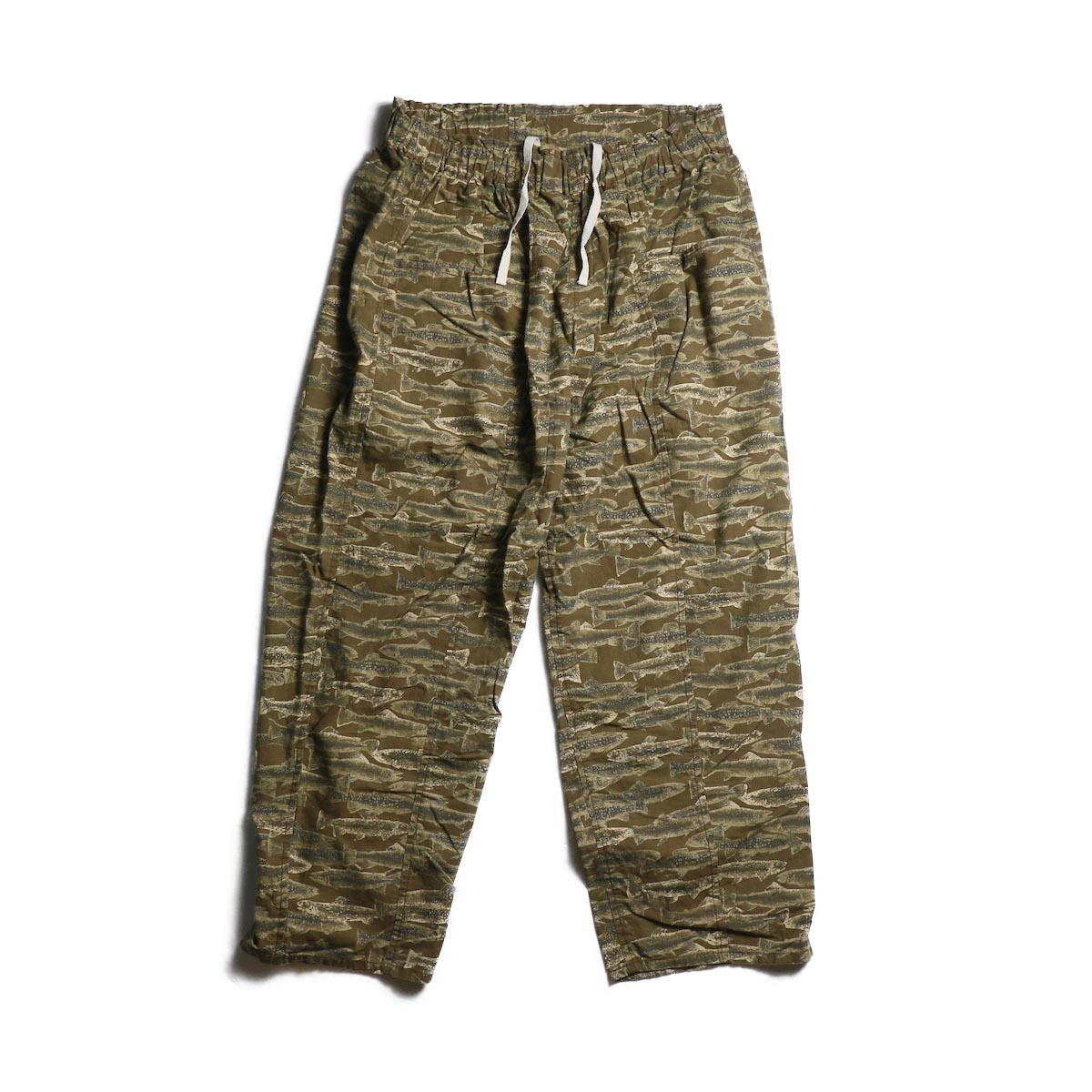 SOUTH2 WEST8 / Army String Pant -Printed Flannel / Camouflage (Trout)