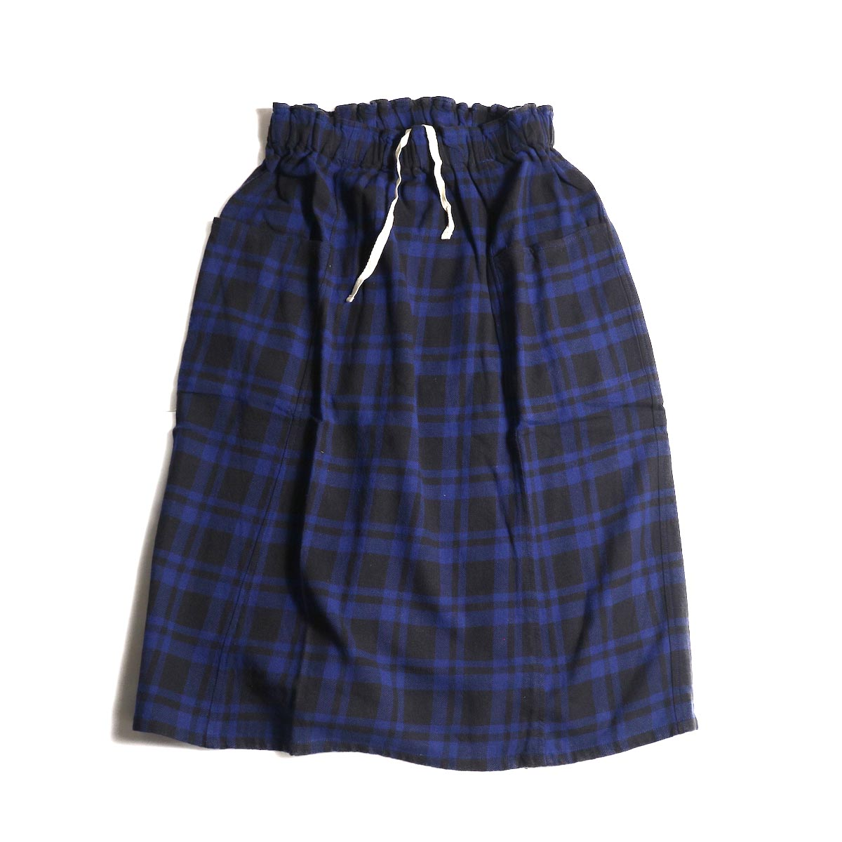 SOUTH2 WEST8 / Army String Skirt -Plaid Twill (Blue/Black)