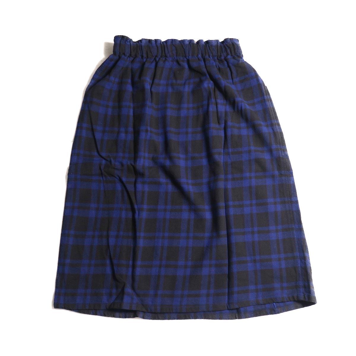 SOUTH2 WEST8 / Army String Skirt -Plaid Twill (Blue/Black)背面