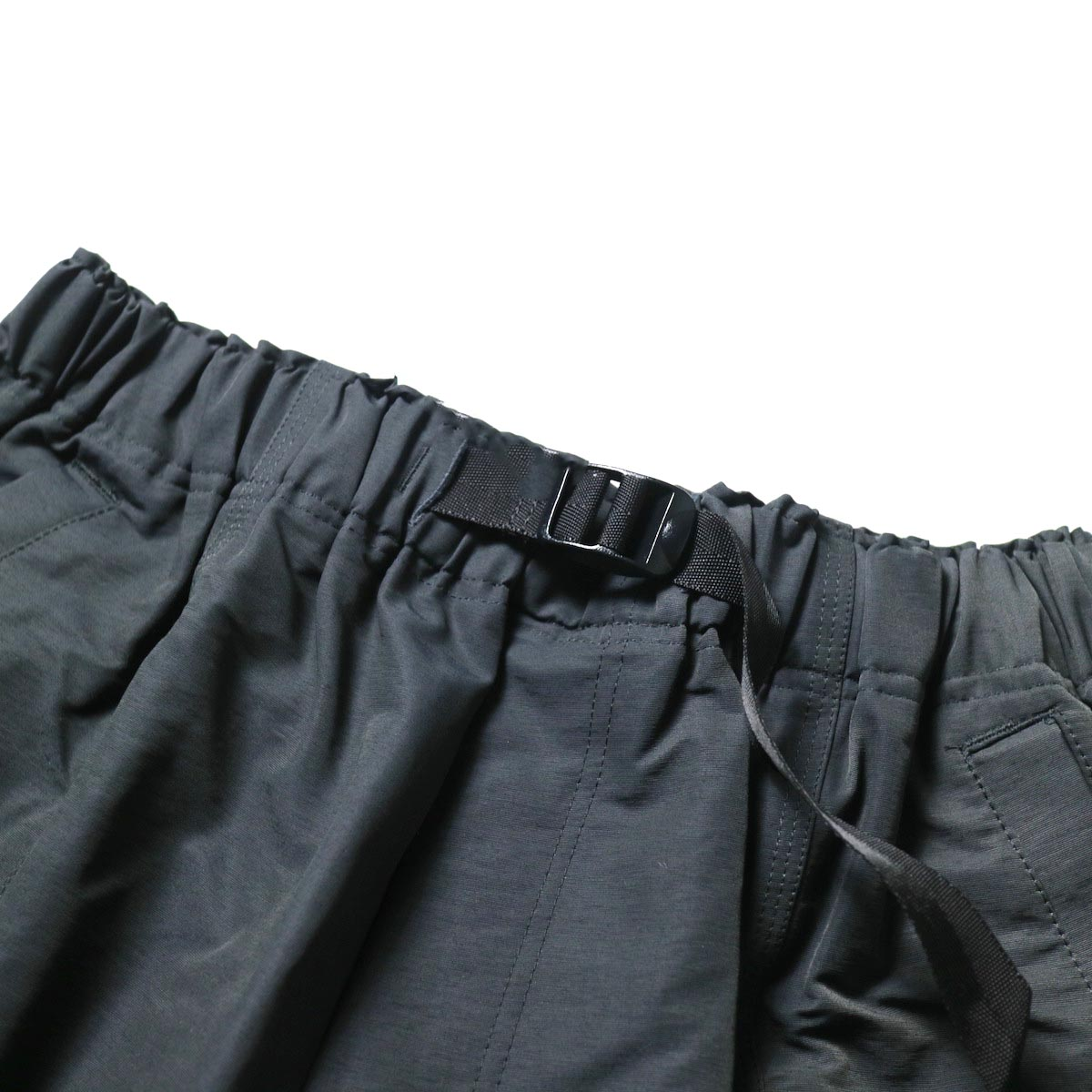 South2 West8 / BELTED C.S. SHORT - C/N GROSGRAIN (Charcoal)ベルト