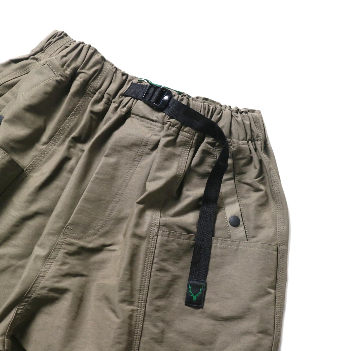South2 West8 / BELTED C.S. SHORT - C/N GROSGRAIN (Taupe)ベルト