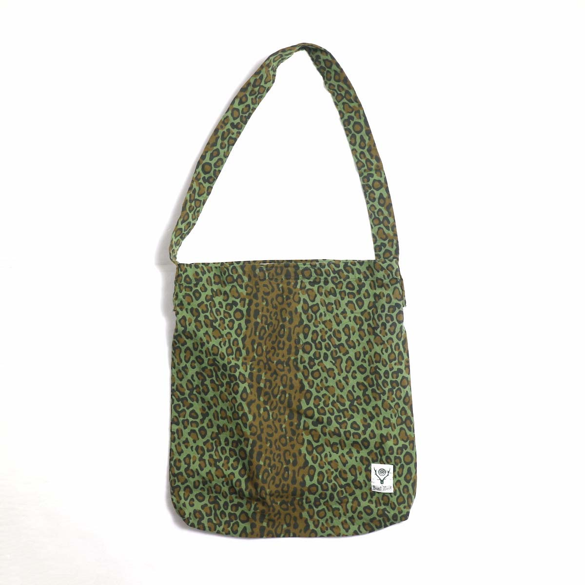 SOUTH2 WEST8 / Book Bag -Printed Flannel / Camouflage (Leopard)