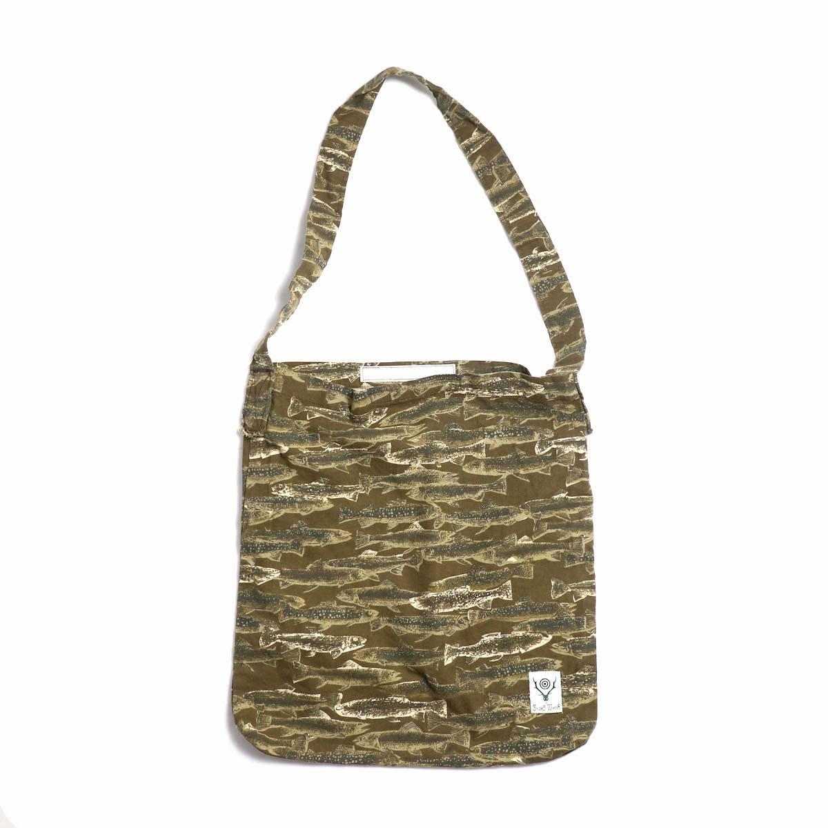SOUTH2 WEST8 / Book Bag -Printed Flannel / Camouflage (Trout) 正面