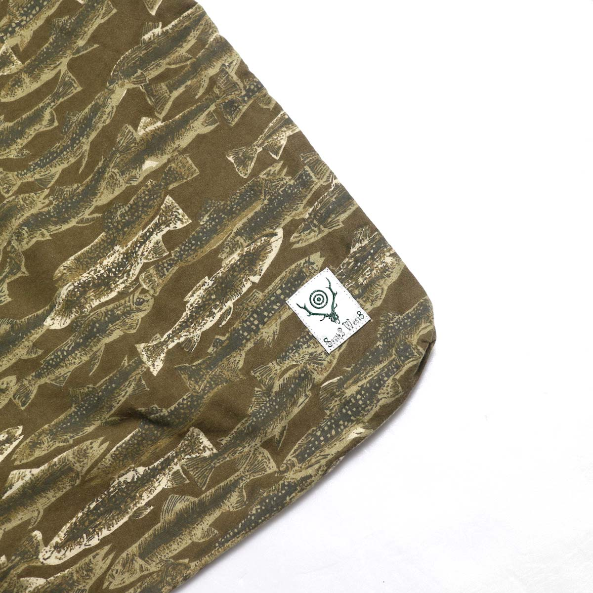 SOUTH2 WEST8 / Book Bag -Printed Flannel / Camouflage (Trout) タグ
